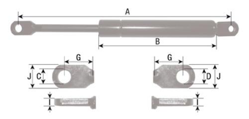 Gasdruckfeder Tür für Massey Ferguson MF 1114 1134 L=500mm