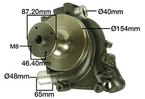 Wasserpumpe 161100060017 passend für Steyr 8100 8110 8120 8130